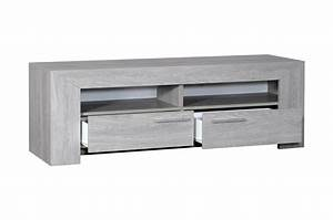Meuble Bas A Tiroir : meuble tv bas 2 tiroirs 2 niches calisto cbc meubles ~ Edinachiropracticcenter.com Idées de Décoration
