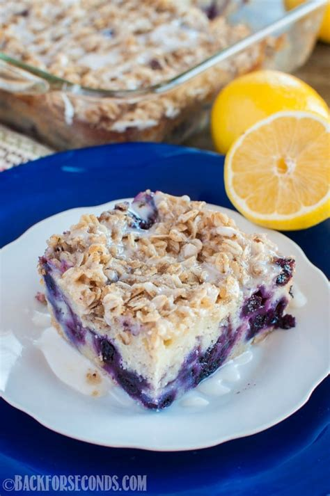 It has a tender, delicate crumb, and the flavor is extra bright thanks to lots of lemon zest, freshly squeezed lemon juice, and a tart lemon glaze. Lemon Blueberry Coffee Cake - Back for Seconds