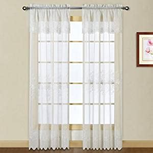 buy united curtain marianna embroidered sheer window