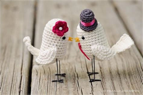birds wedding cake topper new version crochet bird wedding cake topper 2259770