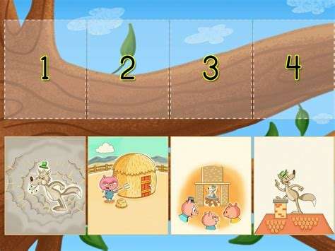 preschool sequencing games sequencing the three pigs education 392