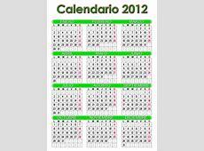 Ver Calendario 2012 en español, grande para Imprimir