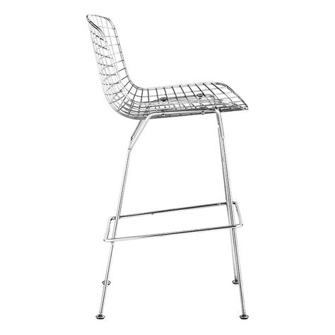 backless counter stool modern barstools wire bar stool eurway furniture 1418