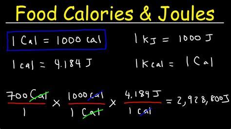 Joules, Food Calories, & Kilojoules - Unit Conversion With ...
