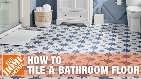 How To Install Floor Tile In Bathroom by How To Tile A Bathroom Floor