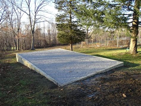 gravel shed pad  slope nice shed design  prepare