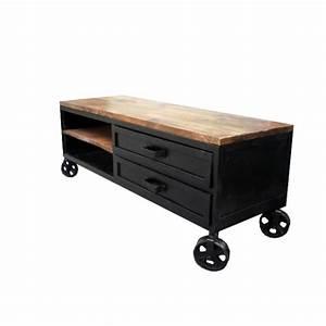 Meuble Tele Industriel : meuble tv industriel ~ Teatrodelosmanantiales.com Idées de Décoration