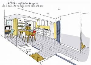 Faire croquis appartement entree et salon chaioscom for Ordinary croquis d une maison 5 restructuration et amenagement dune maison 1930 travaux