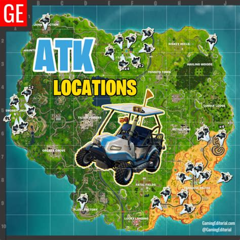 map   atk locations  fortnite battle royale golf