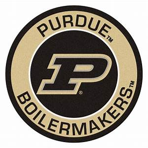 FANMATS NCAA Purdue University Suede 2 ft 3 in x 2 ft 3