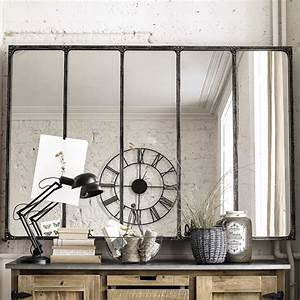 Miroir Fenetre Maison Du Monde : miroir indus en m tal l 180 cm cargo verri re maisons du monde ~ Teatrodelosmanantiales.com Idées de Décoration