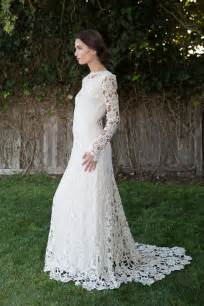 tire wedding rings crochet lace boho wedding dress with sleeves sang