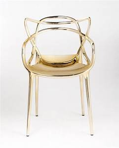 gold starck masters chair from kartell plastic chair with With kartell plastic chair
