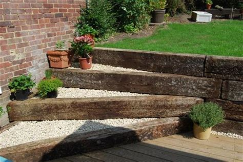 Old Railway Sleepers For Sale. Scottish Deck With New Oak