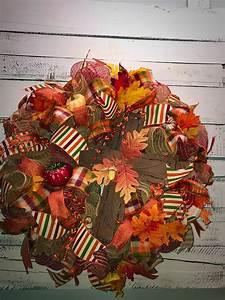 Fall Wreath, Fall Door Wreath, Fall Cross Wreath ...  Fall