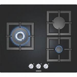 Plaque De Cuisson Gaz Verre Blanc : table de cuisson 3 feux gaz siemens ep616cb21e ~ Dailycaller-alerts.com Idées de Décoration