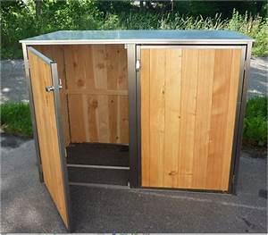 Edelstahlgeländer Selber Bauen : mb7 2er m lltonnenbox holz edelstahl 120 240 liter ~ Lizthompson.info Haus und Dekorationen