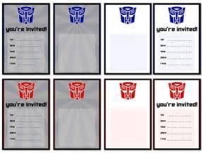 Free Printable Transformers Birthday Party Invitations