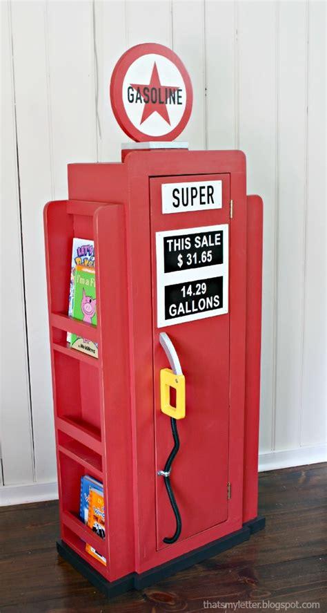 build  vintage gas pump cabinet  side
