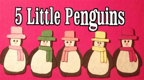 winter preschool songs 5 penguins song 844   maxresdefault