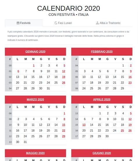 calendario principali eventi astronomici
