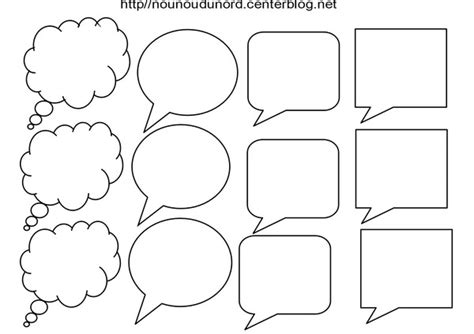 coloriage bulle pour texte