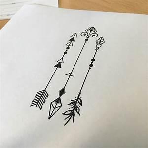 Dessin Fleche Tatouage : 25 best ideas about 3 arrow tattoo on pinterest arrow tattoo design arrow quote tattoo and ~ Melissatoandfro.com Idées de Décoration