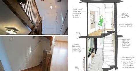 decoration d une entree avec escalier comment donner du cachet 224 une entr 233 e sombre avec cage d