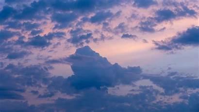Clouds Sky Dusk Sunset Evening 1080p Background