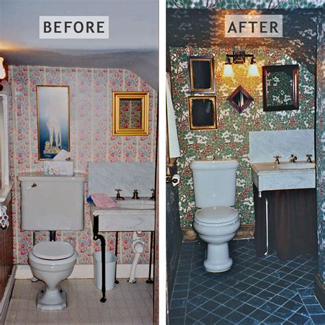 Under The Stairs Powder Room Design   Bathroom Design by