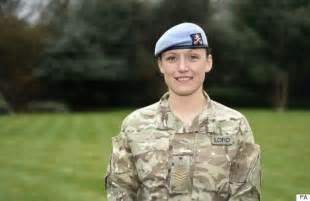 female soldier kate lord awarded queen s medal for