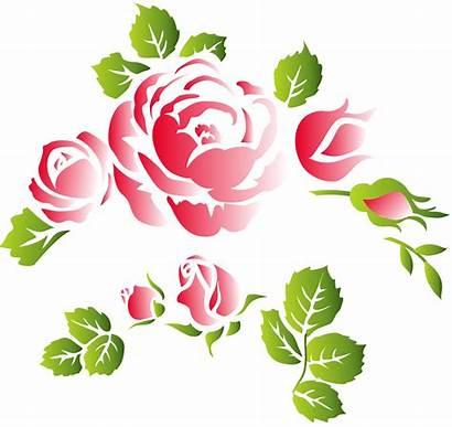Ornament Floral Roses Clip Clipart Elements Decorative