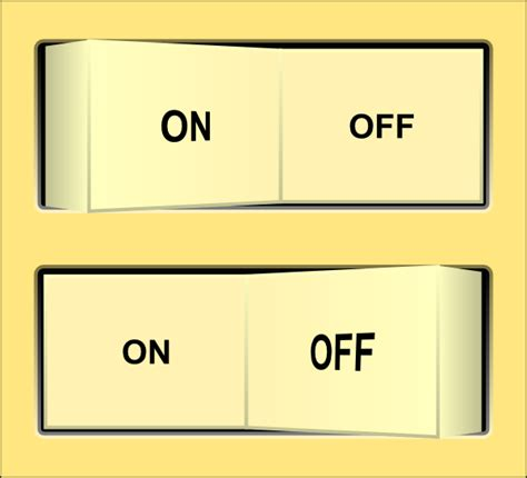 on off light switch on off switch clipart