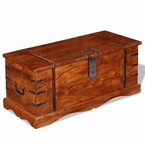 Coffre Rangement Bois : vidaxl coffre de rangement bois massif ~ Teatrodelosmanantiales.com Idées de Décoration