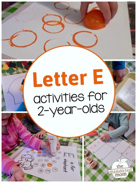 letter e activities for 2 year olds the measured