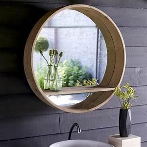 Miroir Rond Salle De Bain : miroir rond en pin 70x70 vente de miroirs aya chez tikamoon ~ Nature-et-papiers.com Idées de Décoration