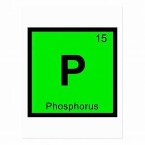 P - Phosphorus Chemistry Periodic Table Symbol Postcard ...