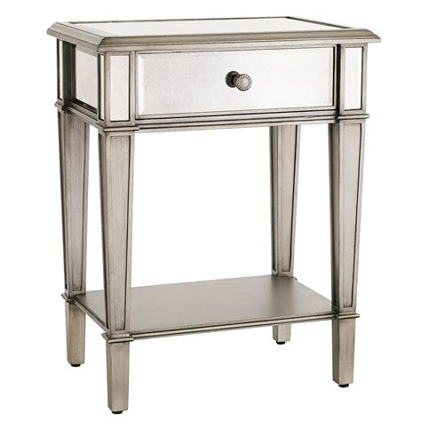 One Nightstand by Hayworth Mirrored Silver Nightstand Pier 1 Imports