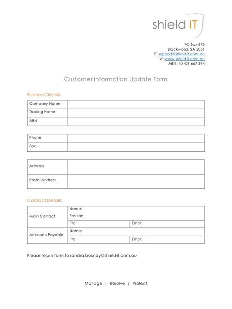 customer details form customer information update form by user customer
