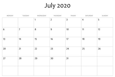 awesome july  calendar  word excel template