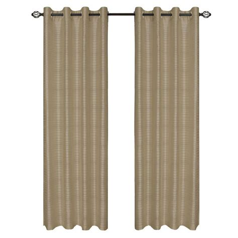 lavish home taupe maggie grommet curtain panel 84 in