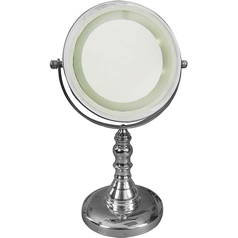 freestanding bath magnifying makeup mirror with led light