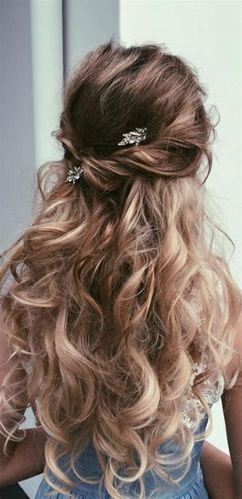 best wedding hairstyles for long hair 2018