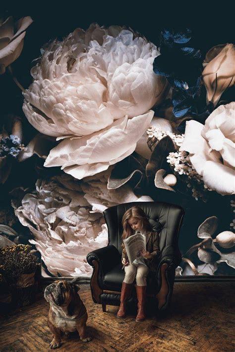 dark vintage floral wallpaper wedding clipart removable