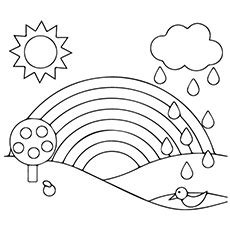 rainbow coloring pages  printables momjunction