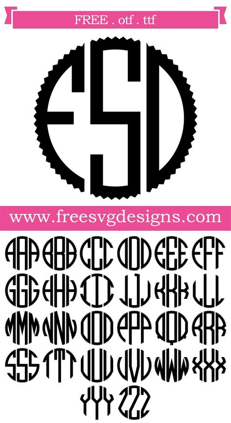 monogram font  design downloads   cutting projects