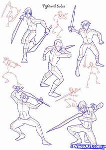 How to Draw Fighting poses, Step by Step, Figures, People ...
