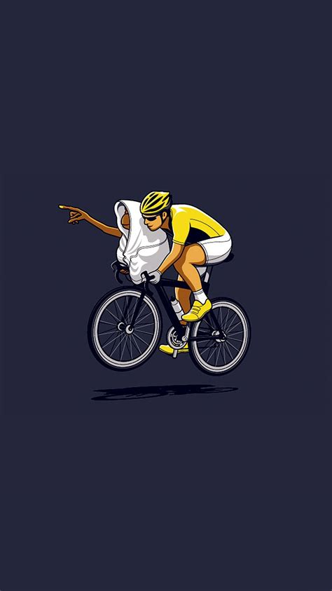 Snap, tough, & flex cases created by independent artists. ET Riding Bike Funny Illustration iPhone 6 Wallpaper HD - Free Download | iPhoneWalls