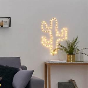 Decoration Lumineuse Murale : cactus lumineux pour ajouter une touche d originalit votre d co taaora blog mode ~ Teatrodelosmanantiales.com Idées de Décoration