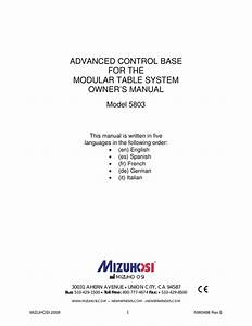 Modular Table System Nw0498 Rev E 5803 Owners Manual Pdf